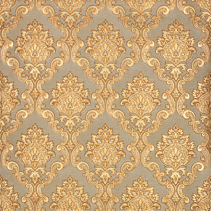 3D Gold Luxury Wallpaper 3D Damascus Mural Wall Paper Roll Living room bedroom background ...