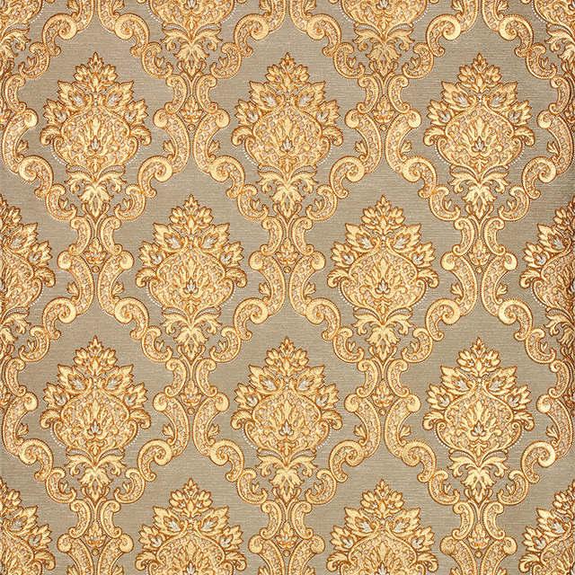 3d gold luxury wallpaper 3d damascus mural wall paper roll for Expensive wallpaper