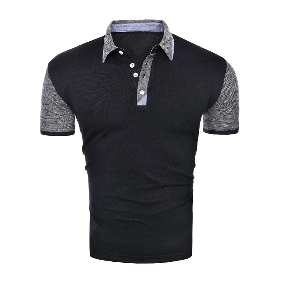 Zogaa brand clothing men business casual solid color Polo shirt new short sleeve breathable