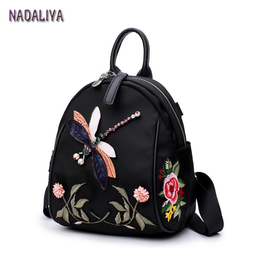 bordado libélula senhora bolsa mochila Técnica : Gravando