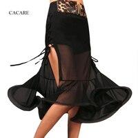 Latin Skirt Latin Dance Dress Women Girls Dance Adult Costume Salsa Standard Dance Skirt with Underwear Waist Belt CAD230