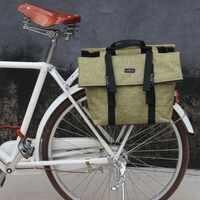 Tourbon en plein air Vintage vélo sacoche arrière Rack sac sacs à bandoulière moto transporteur sacs de rangement étanche pour les déplacements en ville