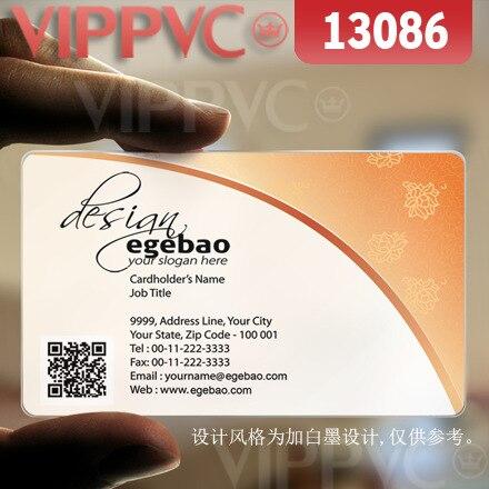 13086 печатать свои визитные карточки-матовый Faces полупрозрачные карты 0.36 мм толщина