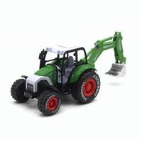 1 32 Farm Truck Metal Toy Agricultural Equipment Alloy Excavator Bulldozer Diecast Simulation Car Model Toy