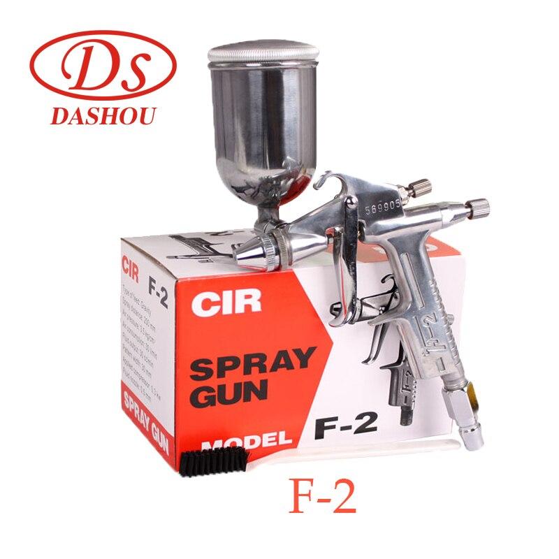 цена на DS Pneumatic Spray Gun F-2 Pot High Atomization 0.5MM Caliber Spray Gun Pneumatic Paint Spray Gun 1PC