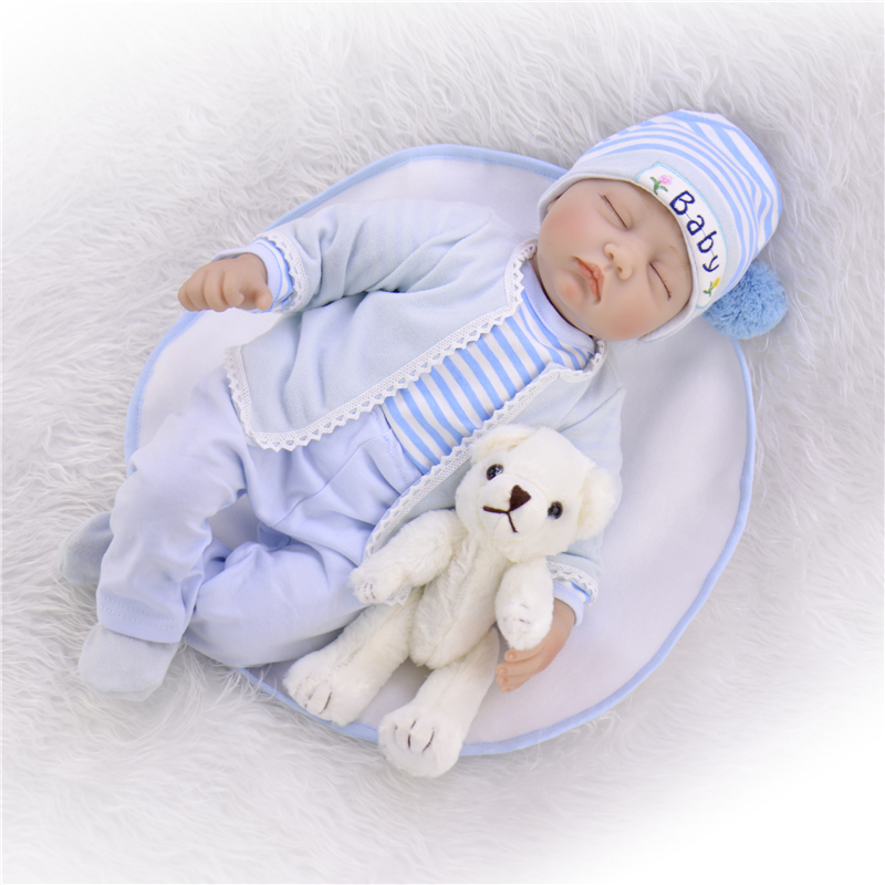 """Image 5 - KEIUMI 22"""" 55cm Bebes Silicone Reborn  Baby Dolls Toys Cloth Body Boy Toddler Babies Newborn Dolls For Kids Best Playmate-in Dolls from Toys & Hobbies"""