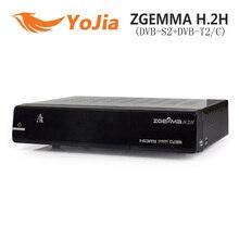 10 unids DVB-S2 híbrido DVB-T2 / C Enigma2 ZGEMMA h. 2 H TV satélite caja receptor 2000DMIPS procesador de la CPU BCM7362 doble hilo