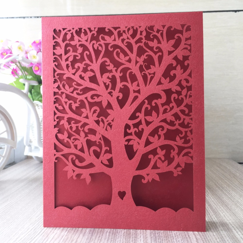 50pcWholesale personalise acrylic Wedding Invitation Card box Laser ...