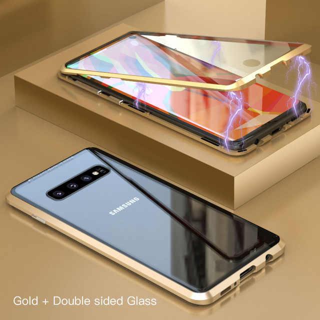 Funda magnética completa para Samsung Galaxy S8 S9 S10 Plus S10e funda trasera frontal de doble vidrio funda Note 10 Note 8 9 Note10 Plus