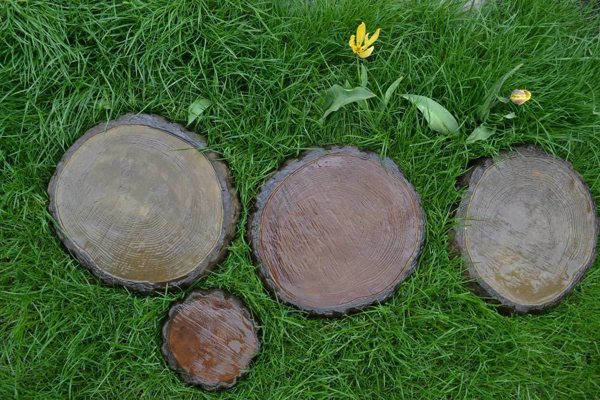 Diy Garden Path Paving Maker Set Of 2 Stepping Stone Log Slab Mold Concrete Cement Mould For On Aliexpress Alibaba Group