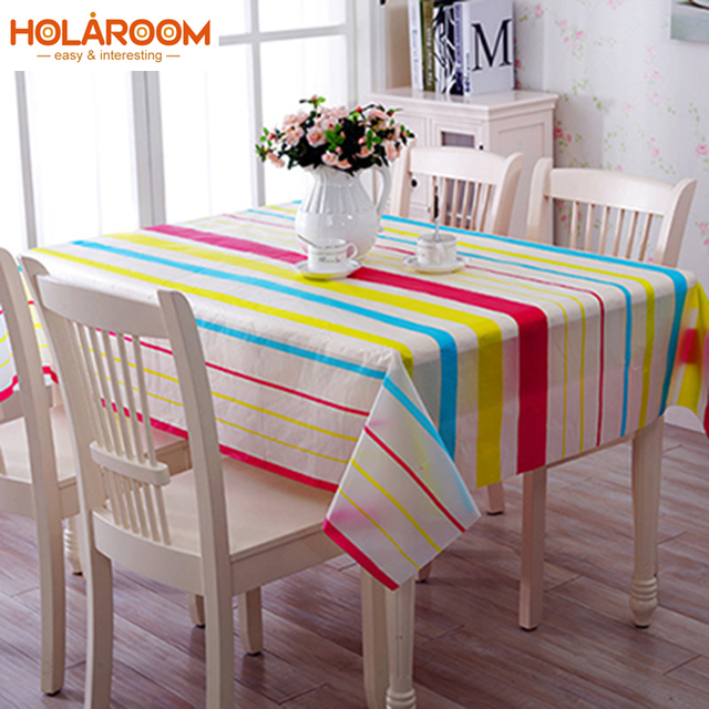 Pastoral PVC Table Cloth Waterproof Oilproof Tablecloth Korean Printing  Pattern Plastic Table Covers Anti Hot