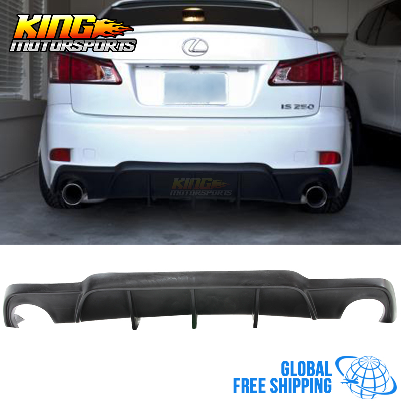 Fit 06-13 Lexus IS250 IS350 4Dr Mr Style Rear Diffuser Bumper Lip Global Free Shipping Worldwide цены онлайн