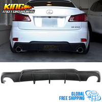 Fit 06 13 Lexus IS250 IS350 4Dr Mr Style Rear Diffuser Bumper Lip Global Free Shipping Worldwide