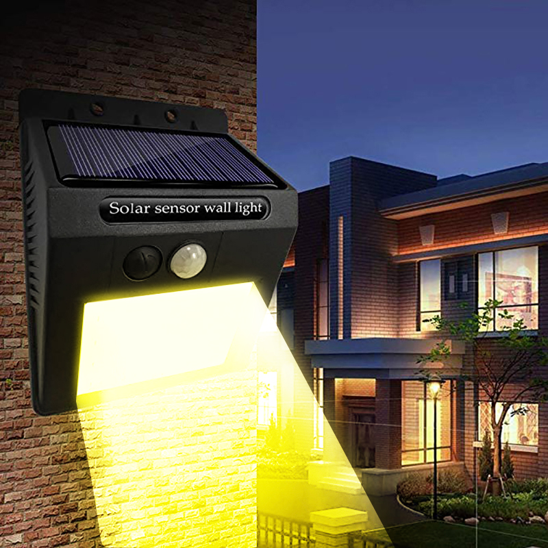 Solar Lights Outdoor Wireless 30 LED 3 Modes Solar Motion Sensor Lights,Waterproof Security Lights For Outdoor Wall Warm White