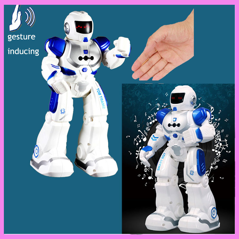 Mechanical Intelligent Remote Control RC Fighting Robot Toys Kids Gesture Inducing Charging Singing and Dancing Children's Toy lz333 4 5ch intelligent electric robot remote control rc dancing robot
