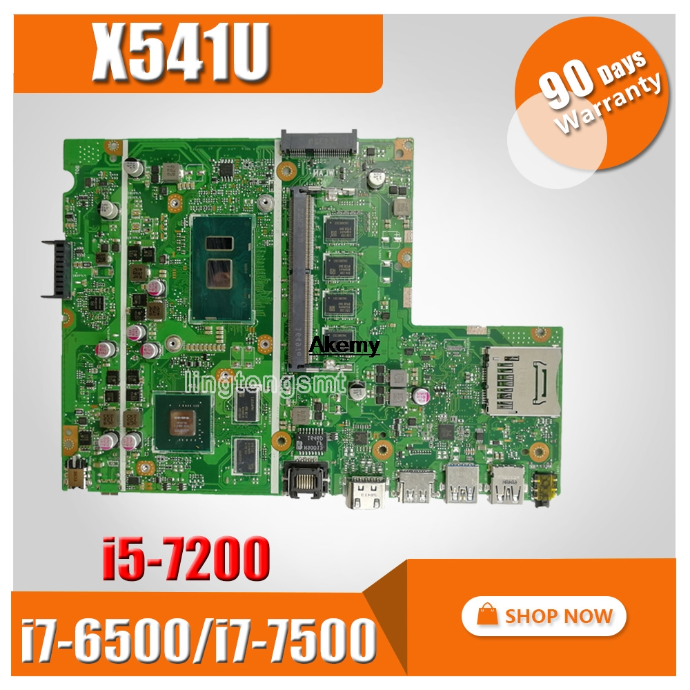 For ASUS X541UJ X541UV X541U X541 X541UJ X541UVK X541UQk Laptop Motherboard Test Original Mainboard 8G I7-6500/i7-7500/i5-7200