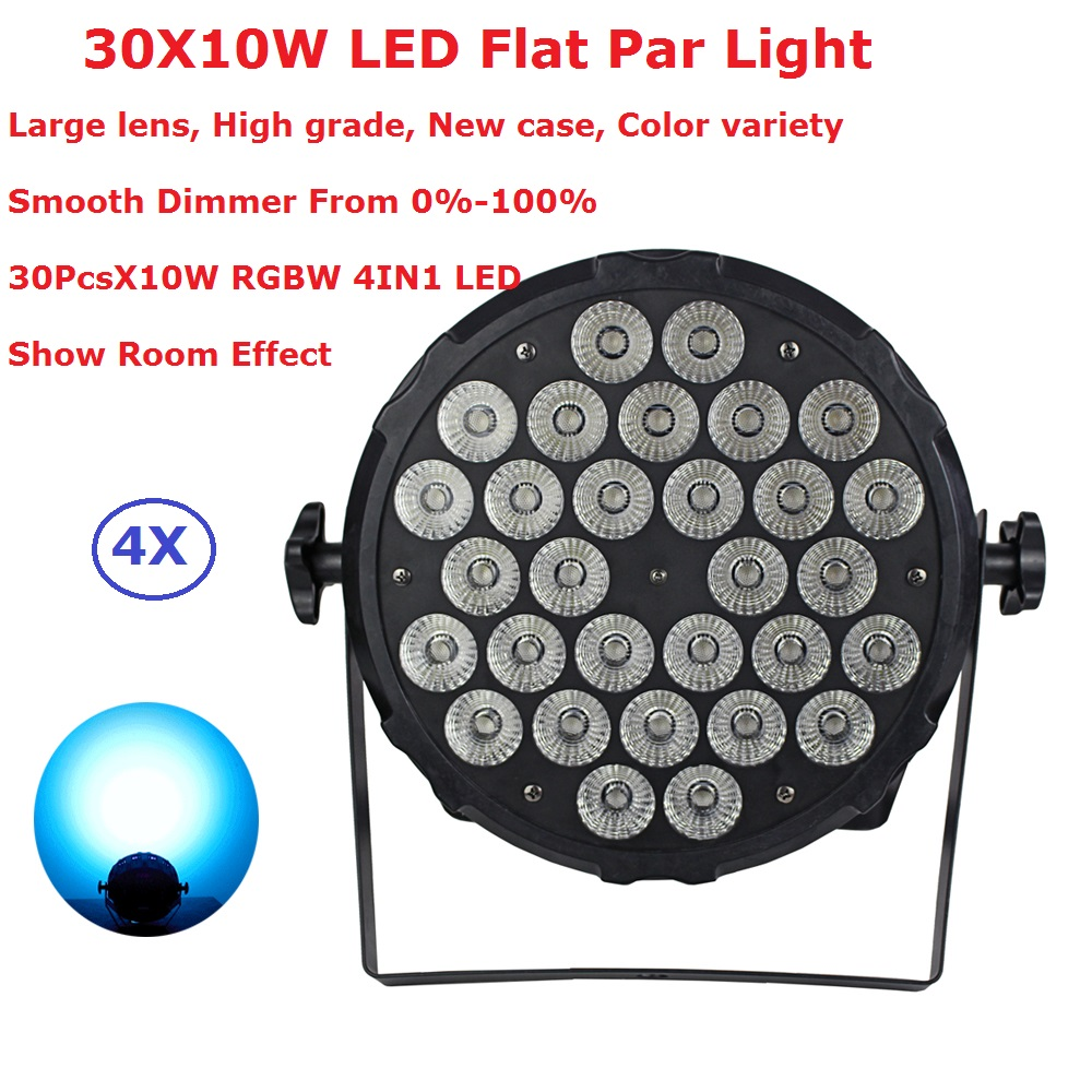 4Pack Newest LED Stage Par Lights 30X10W RGBW 4IN1 Flat LED Par Lights With Show Room Effect For Christmas Holiday Decoration4Pack Newest LED Stage Par Lights 30X10W RGBW 4IN1 Flat LED Par Lights With Show Room Effect For Christmas Holiday Decoration