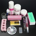 EM-114 FREE SHIPPINGBest selling Pro Clipper Acrylic Powder Liquid Glitter Brush Glue Nail Art Tips Tool Kit Set