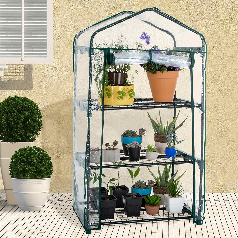 Camada de PVC Jardim Quente Mini Casa Planta Estufa Cover (sem Suporte De Ferro) 40