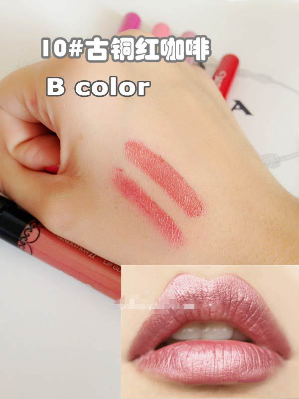 New Arrival Waterproof Elegant Meatl shimmer Brown Color Lipgstick matte inferior smooth liquid velvet lipstick Long Lasting