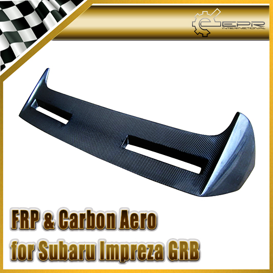 Car-styling For Subar Impreza GRB STI VR2 Carbon Fiber Rear Spoiler Wing