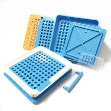 00# синий 100 отверстие профессиональный пластиковый ручной капсульный порошок капсула машина для наполнения пищевых лекарств доска для наполнителя