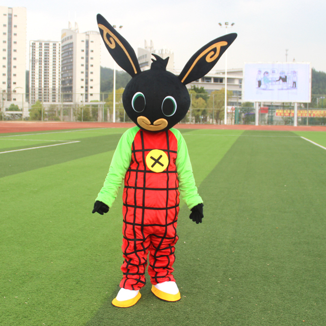 shot rabbit BING Mascot costume Fancy Dress Christmas Cosplay for Halloween party event