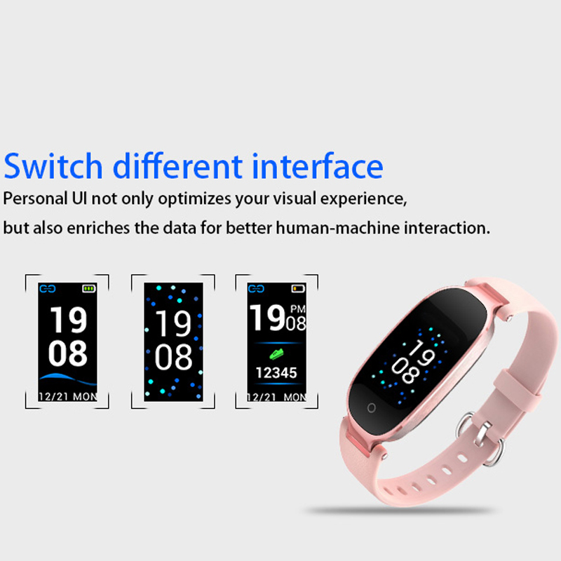 Image 3 - S3 Plus Smart Watch Color Screen Waterproof Women smart band Heart Rate Monitor Smartwatch relogio inteligente For Android IOS-in Smart Watches from Consumer Electronics