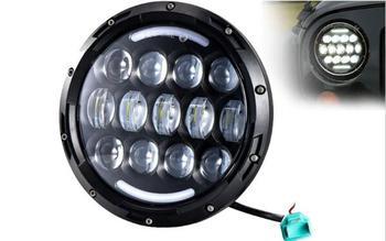 Promotion ! 1 PCS Headlight Motorcycle led headlamp 78W 7'' Motorcycle Projector LED Light Bulb Headlight