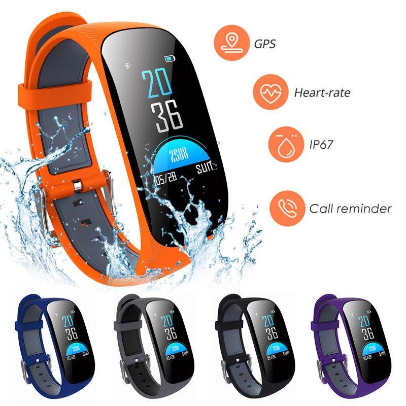 Sport Pedometer Smart Bracelet Wrist Watch Heart Rate Blood Pressure Sleep Monitor GPS Fitness Tracker Burnt Calories Wristwatch
