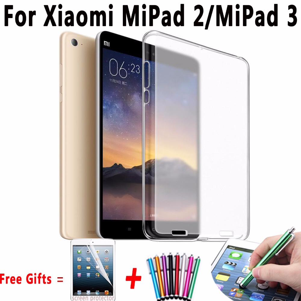 Soft Clear TPU Case For Xiaomi Mipad 2/Mipad 3 7.9 inch Ultra Thin Transparent Tablet Cover Case for Xiaomi Mi Pad 2 Mi Pad 3