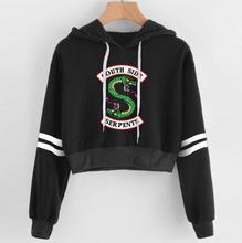 Women Crop top riverdale Hoodie South Side Serpents short hoodies Sweatshirt
