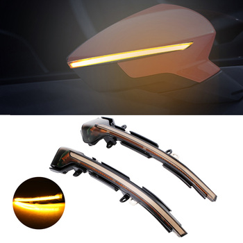 2PCS Dynamic led light for Seat Leon Mk3 leon 5F Signal Turn Light Side Mirror Indicator Lamp For 13-18 Ibiza Mk5 17 -18 Arona