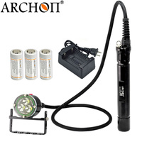 Underwater Lights Flashlight Diving Torches Light Waterproof Lamp 3000Lm CREE XM L2 U2 LED ARCHON DH30