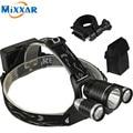 RUZK5 Led Headlight 8000Lm Rechargeable Headlamp Flashlight Head Torch Linterna Xml T6+2Q5 Use 18650 Battery Fishing Bike Light