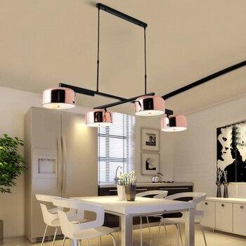Винтажный Лофт подвесные светильники из кованого железа стеклянный абажур круглая лампа кухонный обеденный бар Настольный светильник под