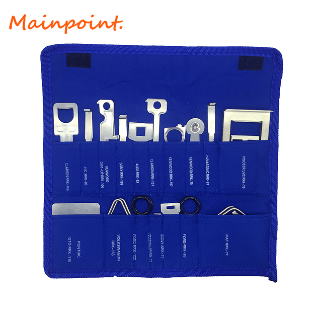 38Pcs Professional Car/Auto Interior Audio Stereo CD Player Radio Removal Keys Red Blue Stereo Release Removal Kits Hand Tools