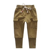 Kids Boys Pants Casual Toddler Pants Boys Trousers 2018 New High Quality Black Patch Pocket Teen