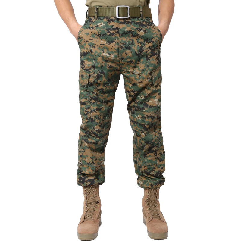 Men's Camouflage Tactical Pants Multi-Pockets Military Digital Camo SWAT Cargo Pants New 2019 Spring Army Long Trousers For Men