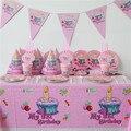 86 unids Lujo Cumpleaños de Los Niños Decoración Set Mi primera Fiesta Temática de cumpleaños Feliz Cumpleaños Del Bebé Party Girls Baby Shower Suministros Favor