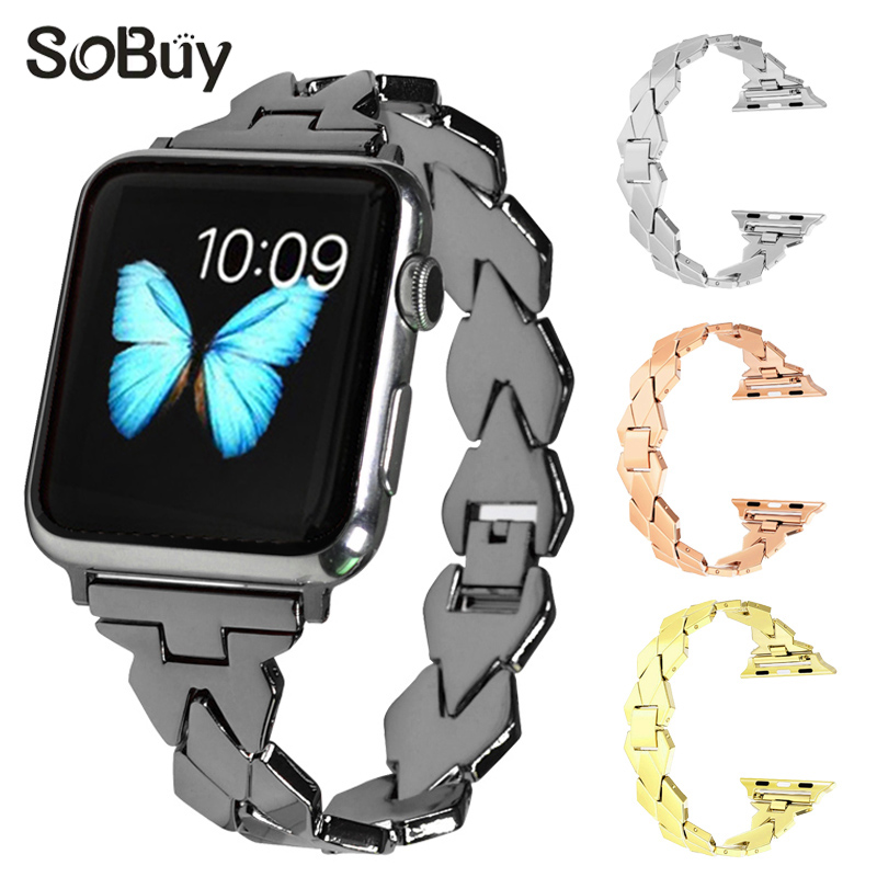 Stainless steel strap for Apple watch band 40mm 44 mm