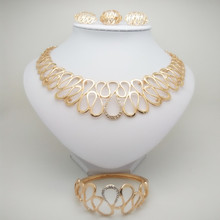 Kingdom Ma New dubai Big Choker nigerian wedding beads jewelry set Round Earrings for Women Party african costume Jewelry sets