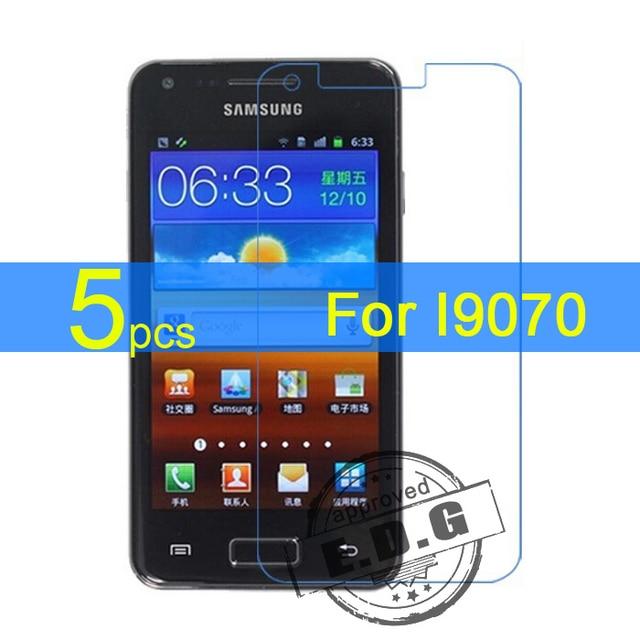 5 stks Glossy/Matte/Nano anti-Explosie LCD Screen Protector Film Cover Voor Samsung Galaxy S Advance I9070 Beschermfolie + doek