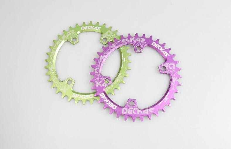 Deckas 96 BCD รอบห่วงโซ่สำหรับ Shimano M7000/M8000/M9000 32/34/36/38 t MTB จักรยานจักรยานโซ่ Crankset ฟันแผ่น
