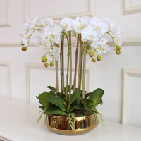 3D printed artificial orchid flower arrangement hand feel orchid e butterfly orchid no vase