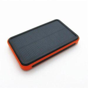 Image 3 - Batterie solaire portable étanche réel 20000mAh chargeur de batterie externe double USB polymère lampe extérieure powerbank universel