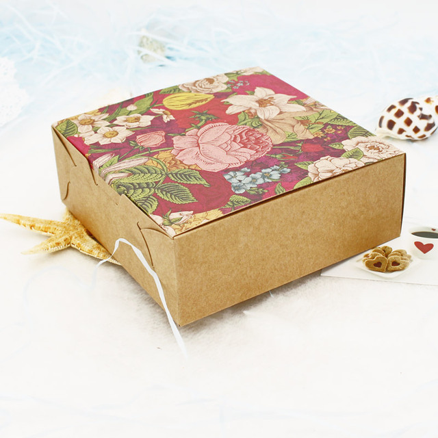 Vintage Flower Pattern Cake Boxes