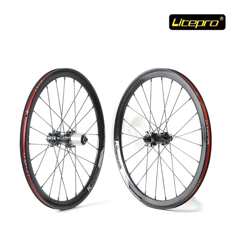 все цены на Original Litepro Elite Wheelset 20inch Disc Brake Straight Pull Wheelset DT Spoke Folding Bike Refiting Wheel set