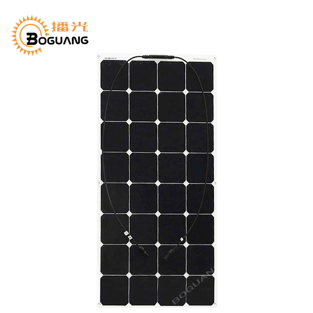 100W Flexible Solar Panels For Solar Powered Fishing Boats With Back Side Connection Suit For 12V