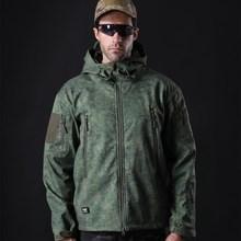 Большие размеры XS-5XL мужские тактические ветровка из мягкой ткани водостойкие Акула кожи боевой Открытый Охота Одежда Кемпинг куртка для альпинизма